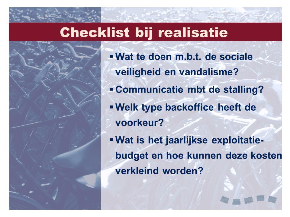 Checklist bij realisatie