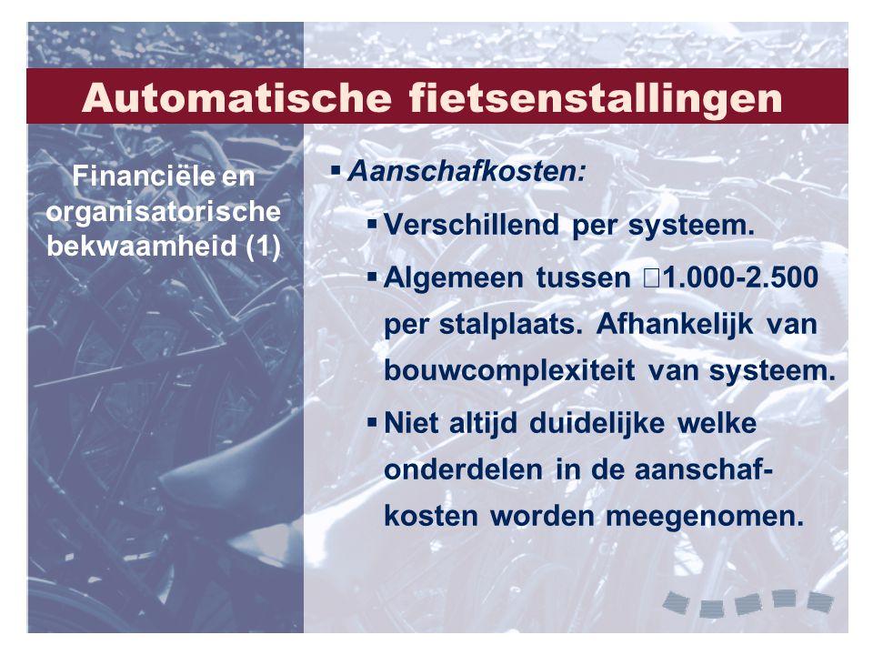 Automatische fietsenstallingen