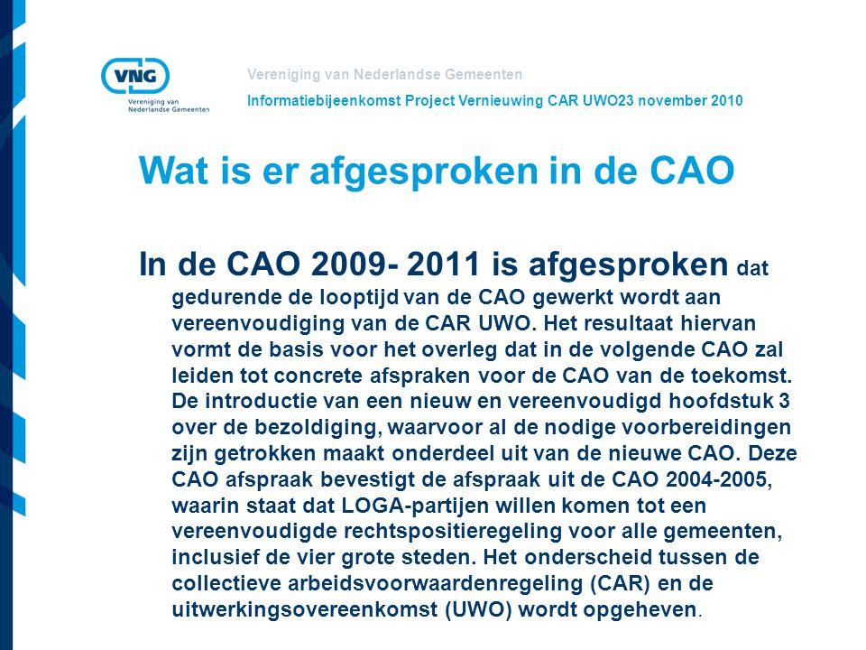 Wat is er afgesproken in de CAO