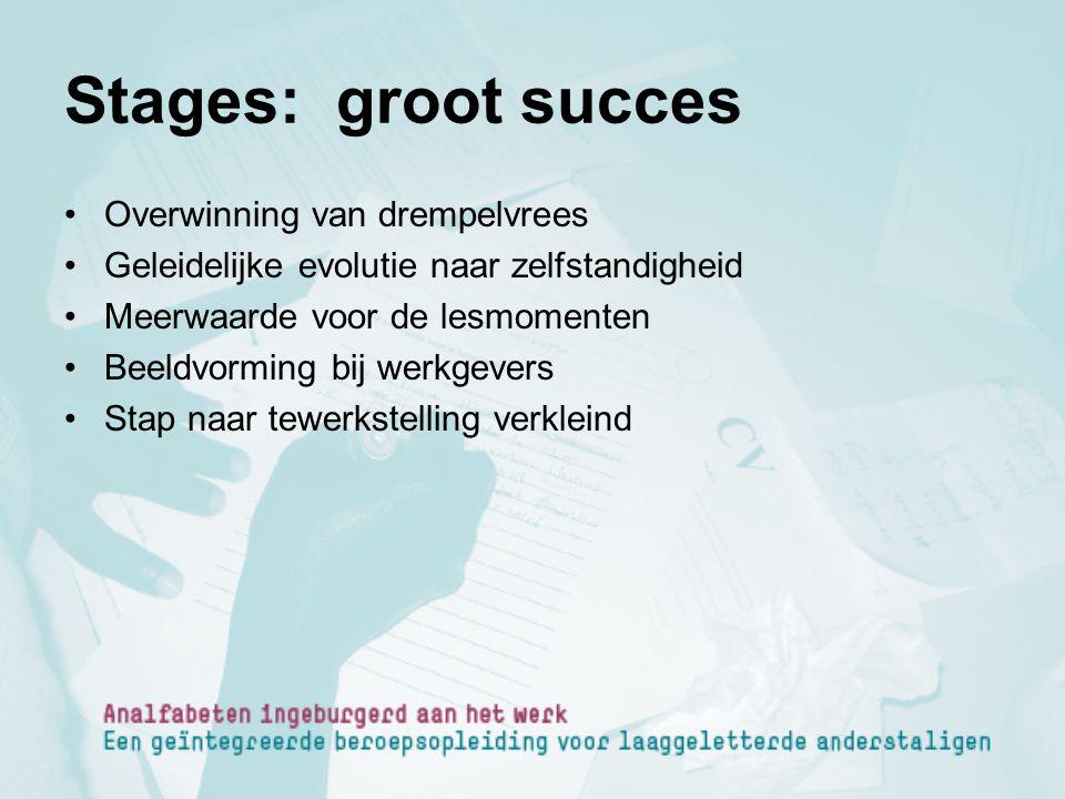 Stages: groot succes Overwinning van drempelvrees