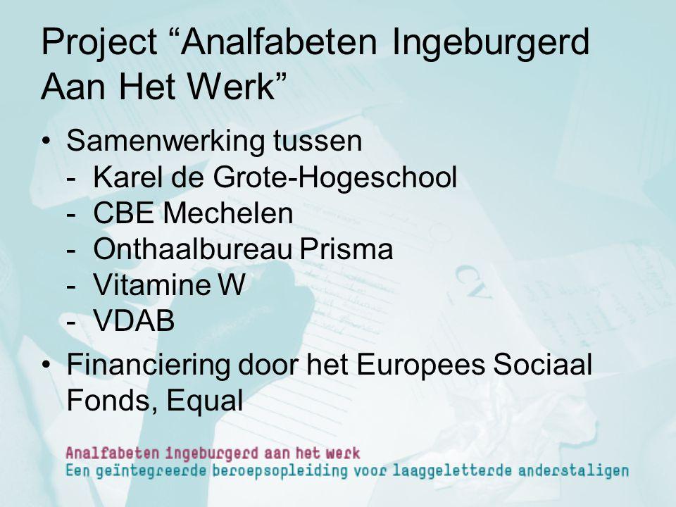 Project Analfabeten Ingeburgerd Aan Het Werk