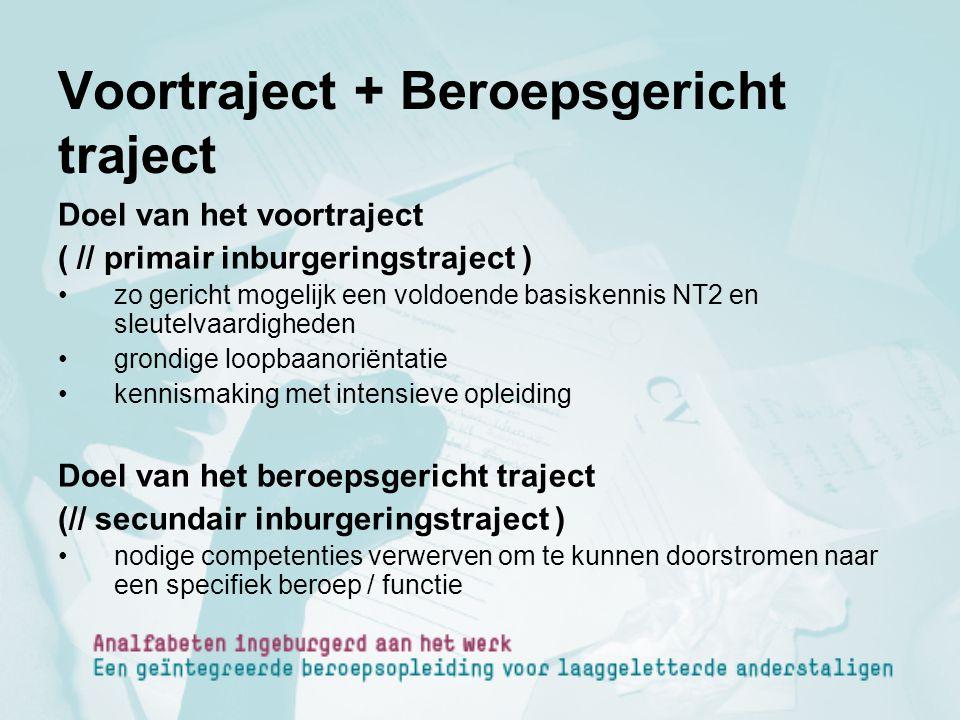 Voortraject + Beroepsgericht traject