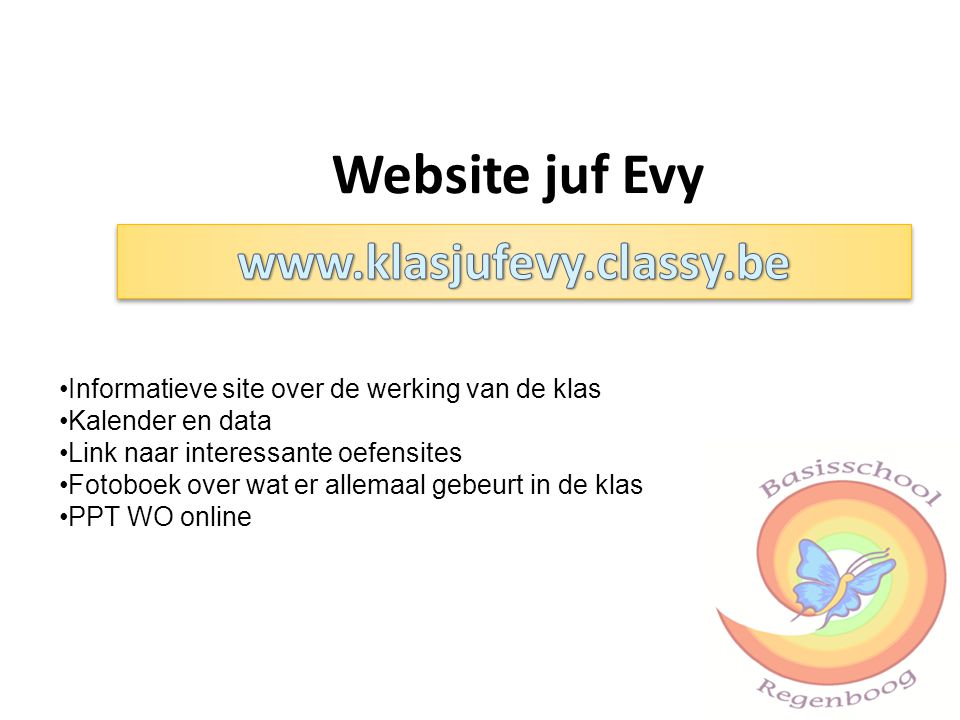 Website juf Evy