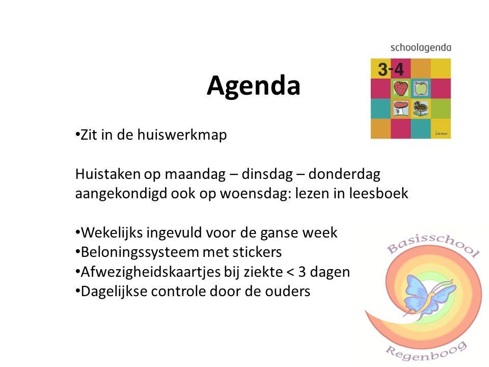 Agenda Zit in de huiswerkmap