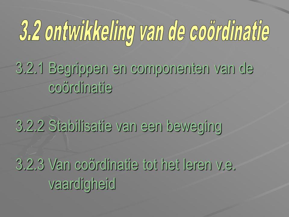3.2 ontwikkeling van de coördinatie