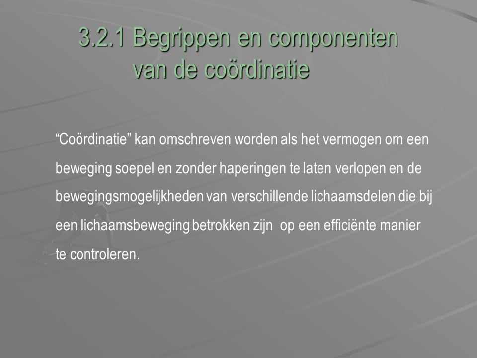 3.2.1 Begrippen en componenten van de coördinatie