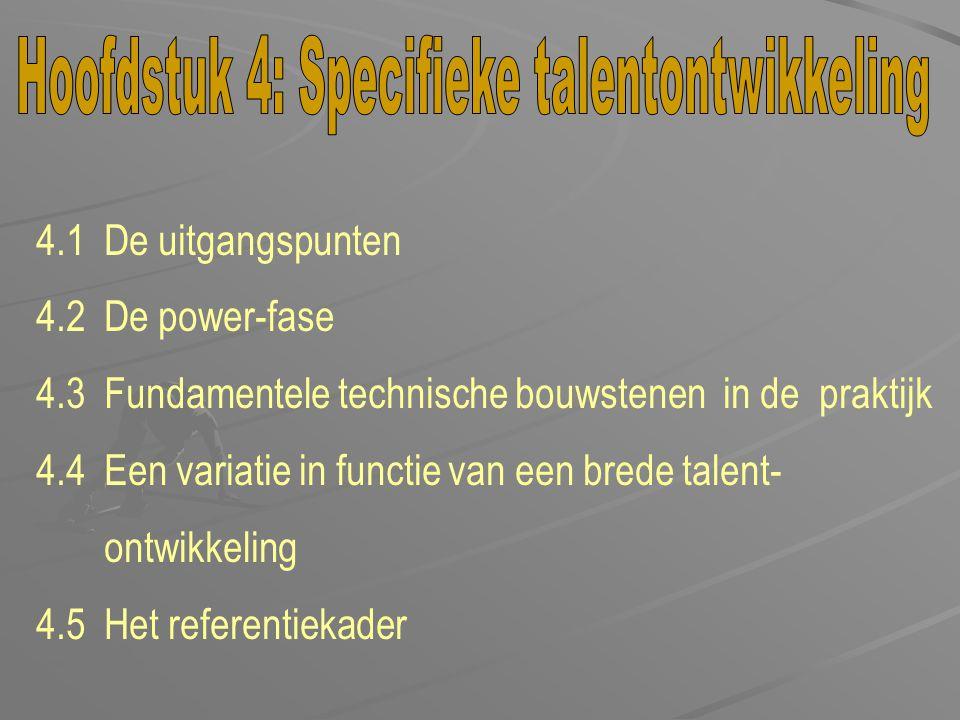Hoofdstuk 4: Specifieke talentontwikkeling