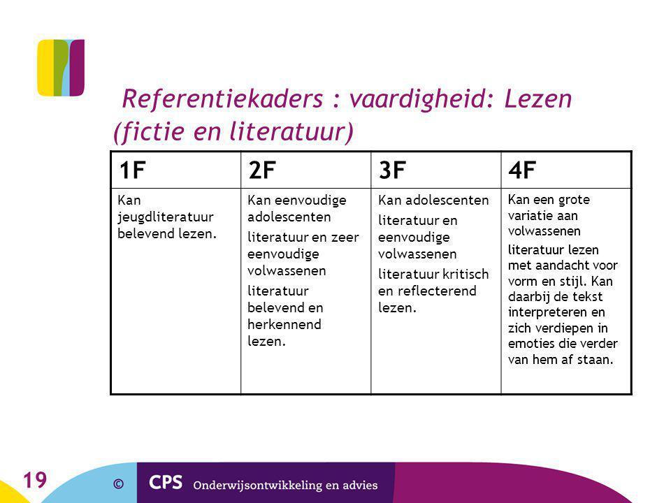 Referentiekaders : vaardigheid: Lezen (fictie en literatuur)