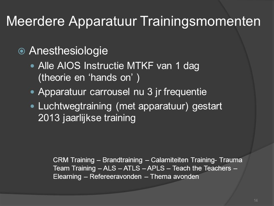Meerdere Apparatuur Trainingsmomenten