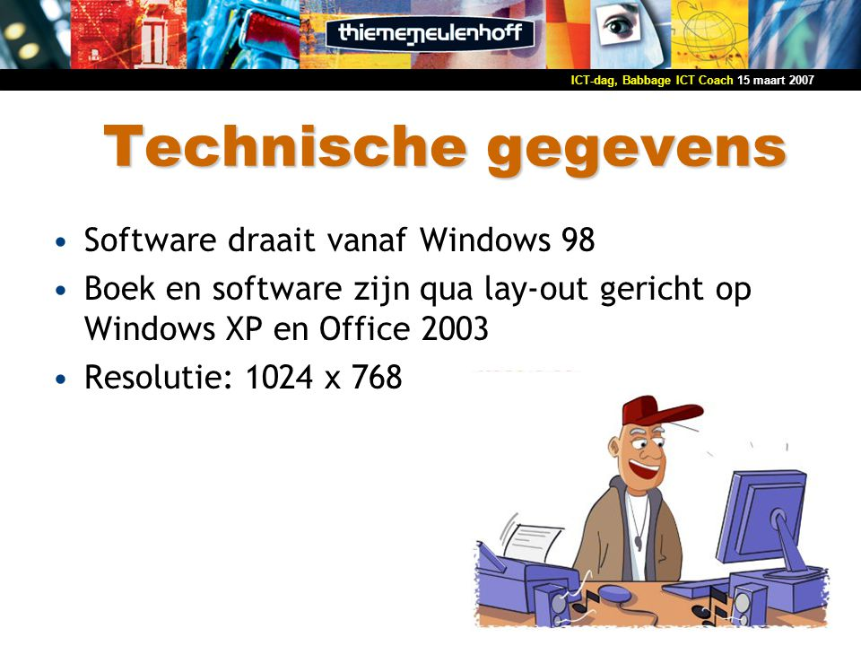 Technische gegevens Software draait vanaf Windows 98