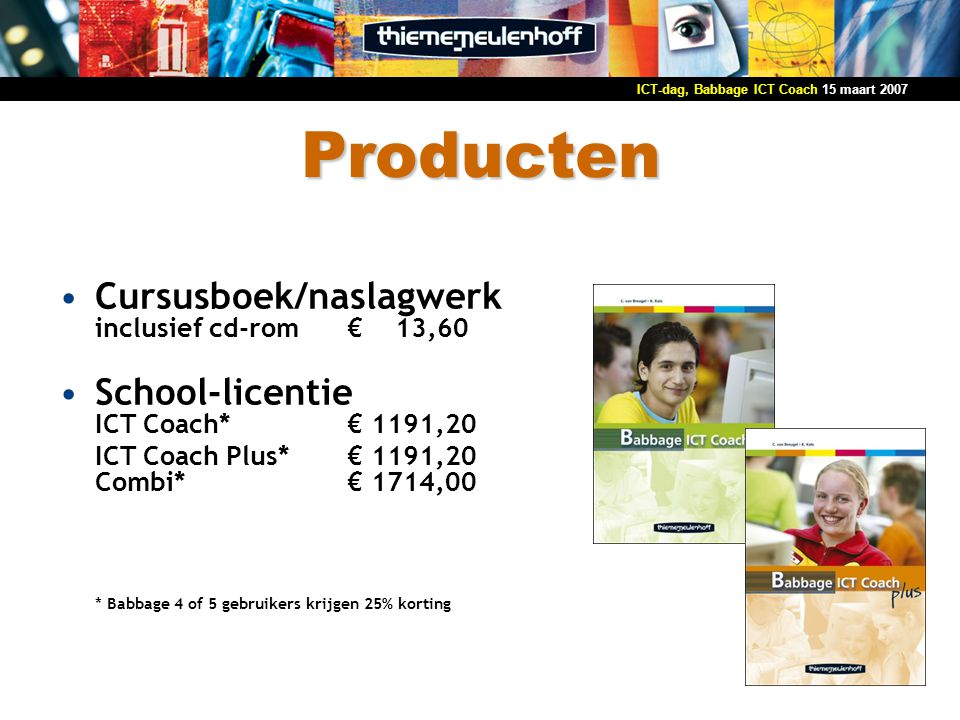 Producten Cursusboek/naslagwerk inclusief cd-rom € 13,60