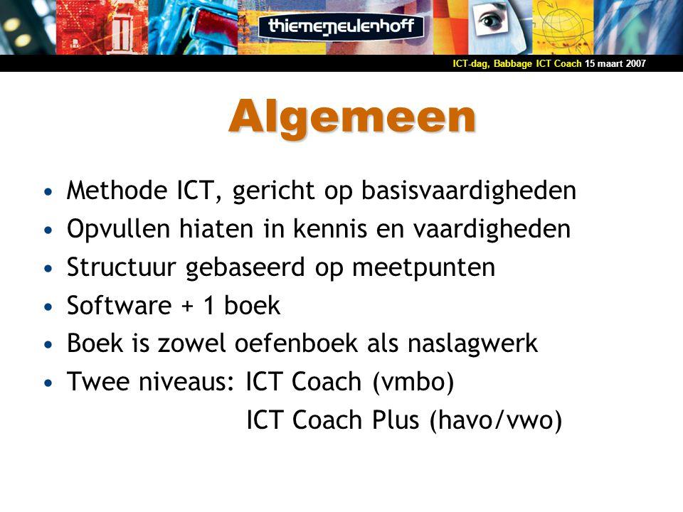 Algemeen Methode ICT, gericht op basisvaardigheden