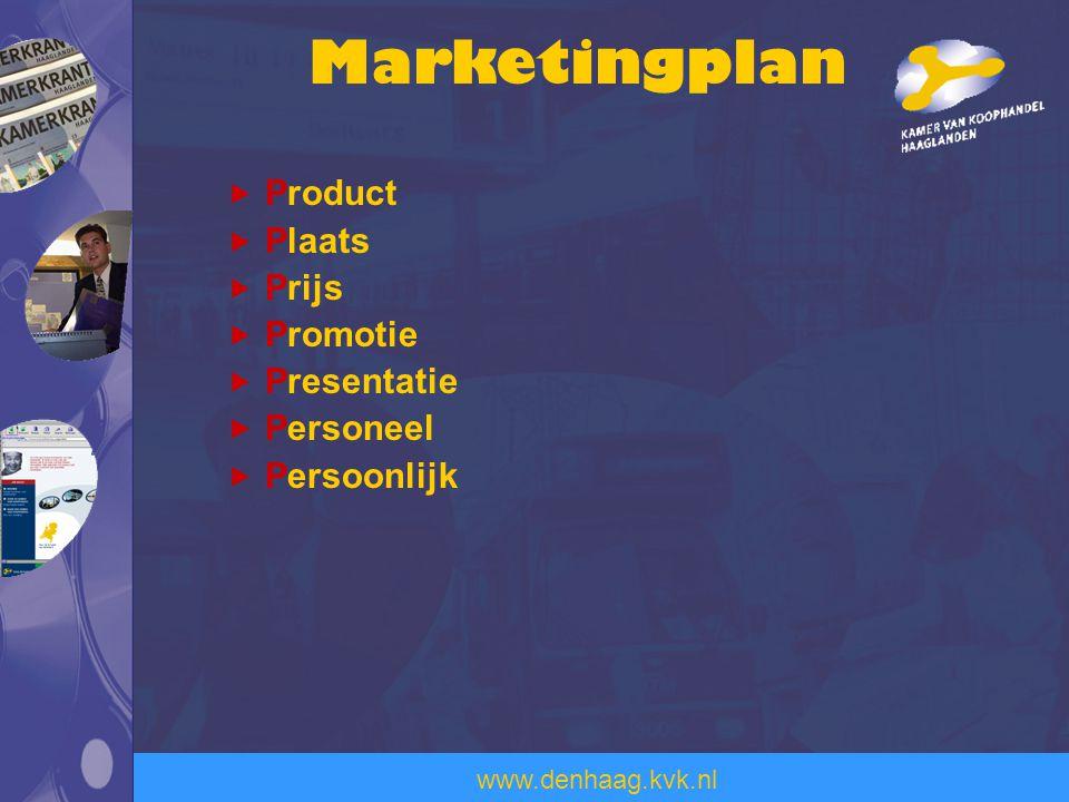 Marketingplan Product Plaats Prijs Promotie Presentatie Personeel
