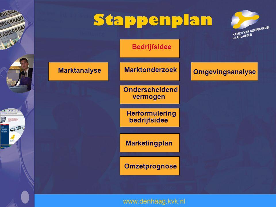Stappenplan Bedrijfsidee Marktanalyse Marktonderzoek Omgevingsanalyse