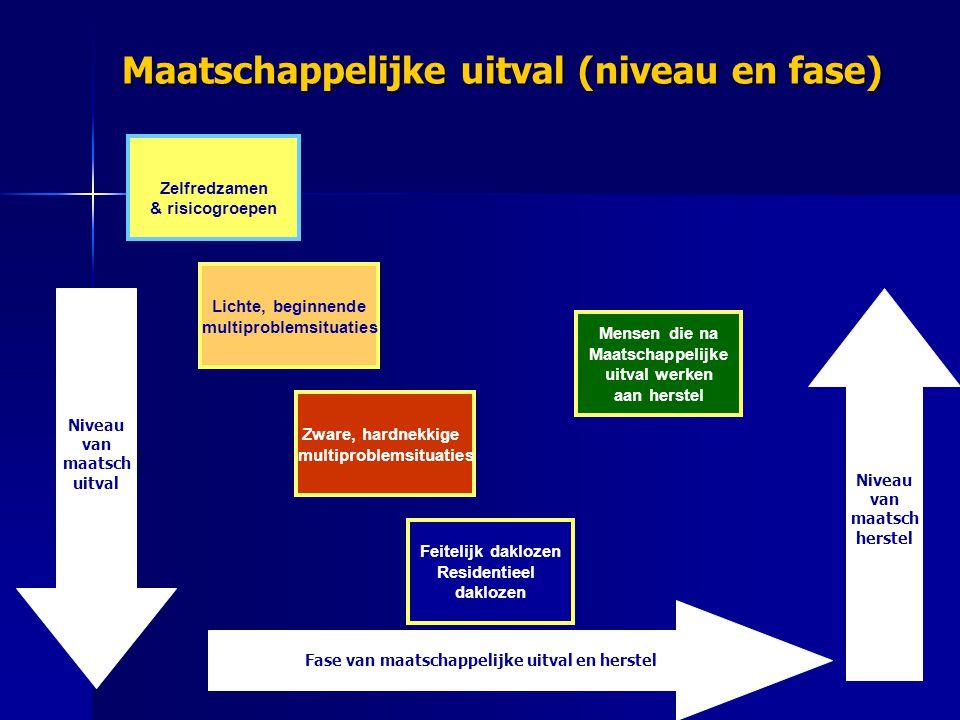 Maatschappelijke uitval (niveau en fase)