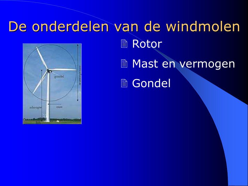 De onderdelen van de windmolen