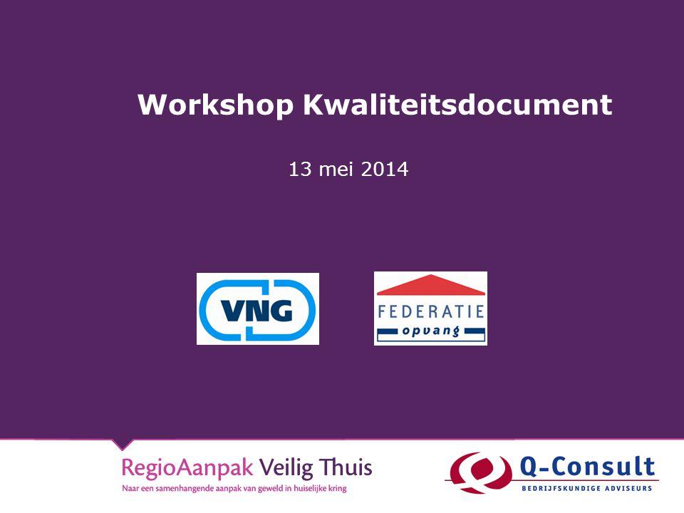 Workshop Kwaliteitsdocument