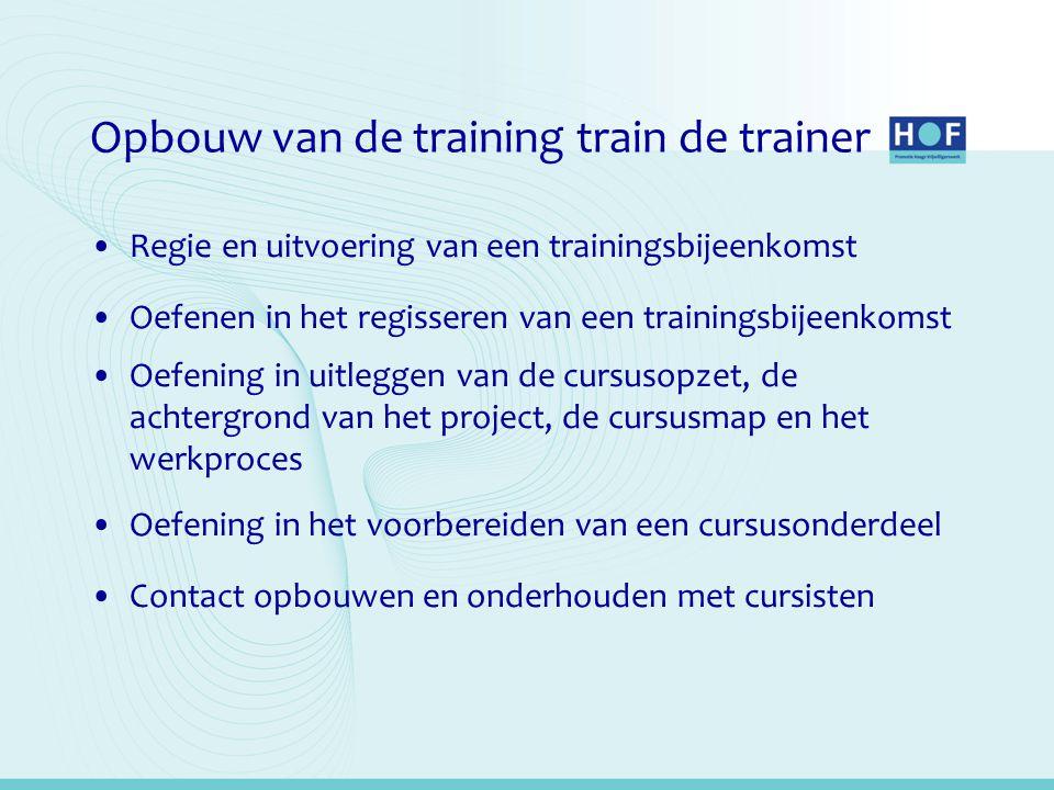 Opbouw van de training train de trainer