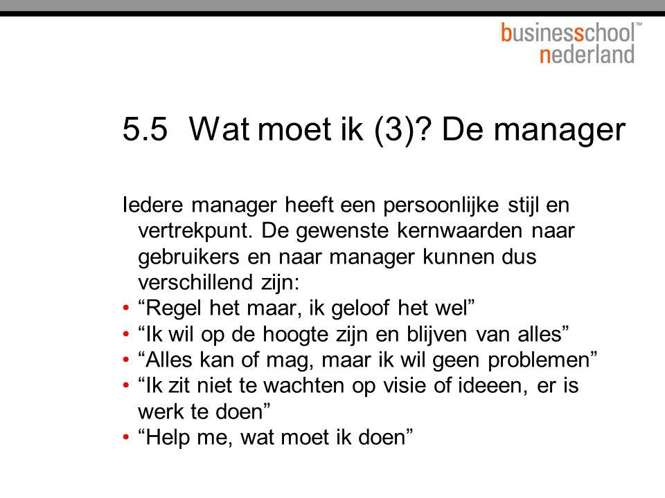 5.5 Wat moet ik (3) De manager