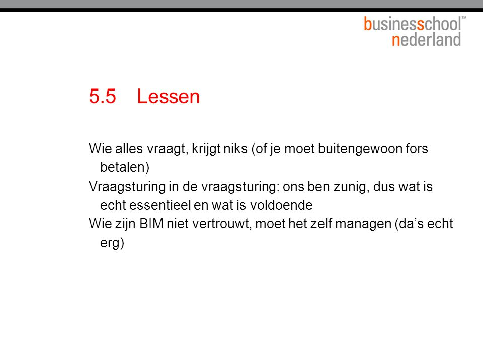 5.5 Lessen