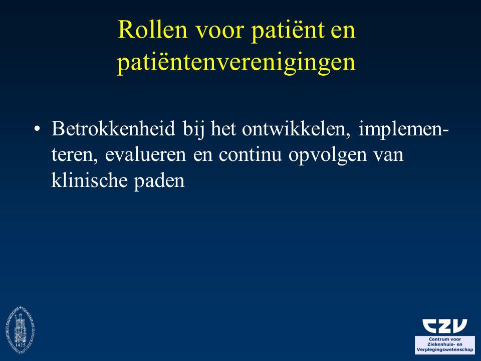Rollen voor patiënt en patiëntenverenigingen