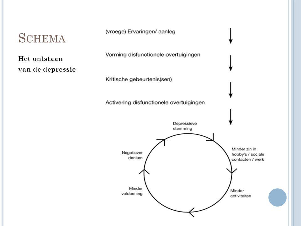 Schema Het ontstaan van de depressie