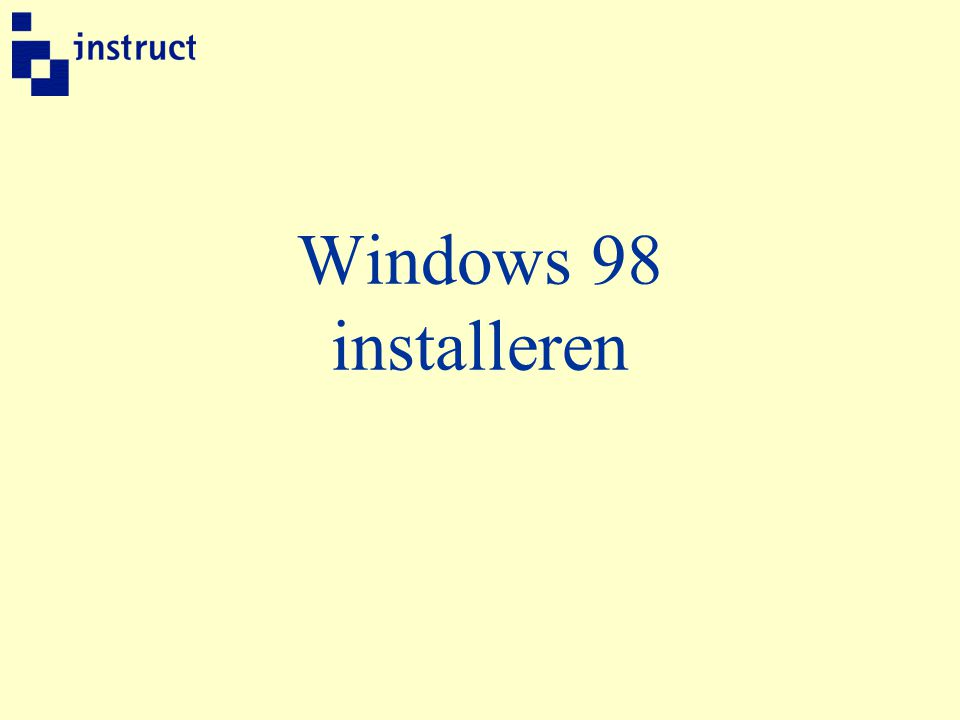 Windows 98 installeren