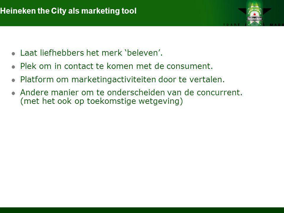Heineken the City als marketing tool
