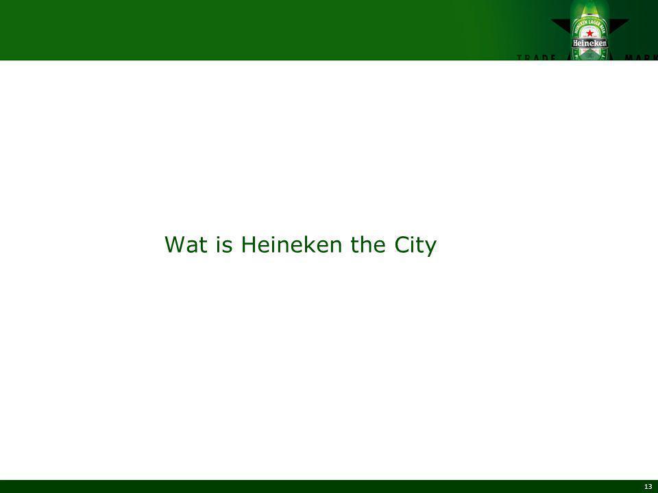 Wat is Heineken the City