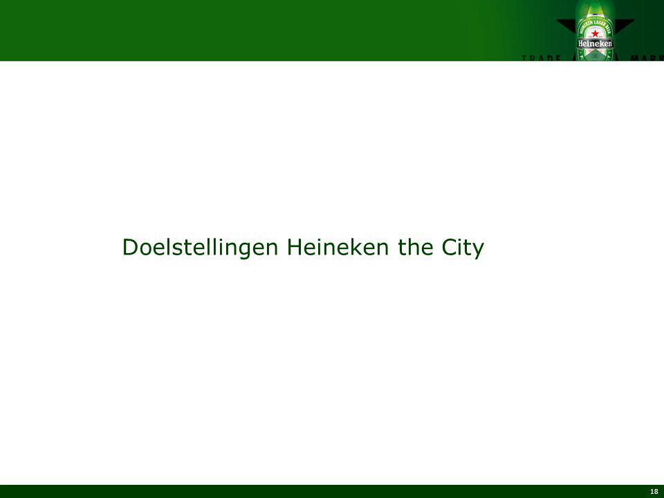 Doelstellingen Heineken the City