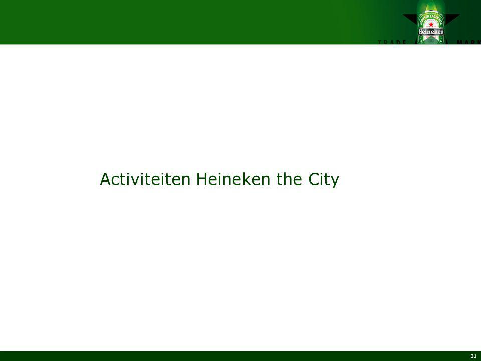 Activiteiten Heineken the City