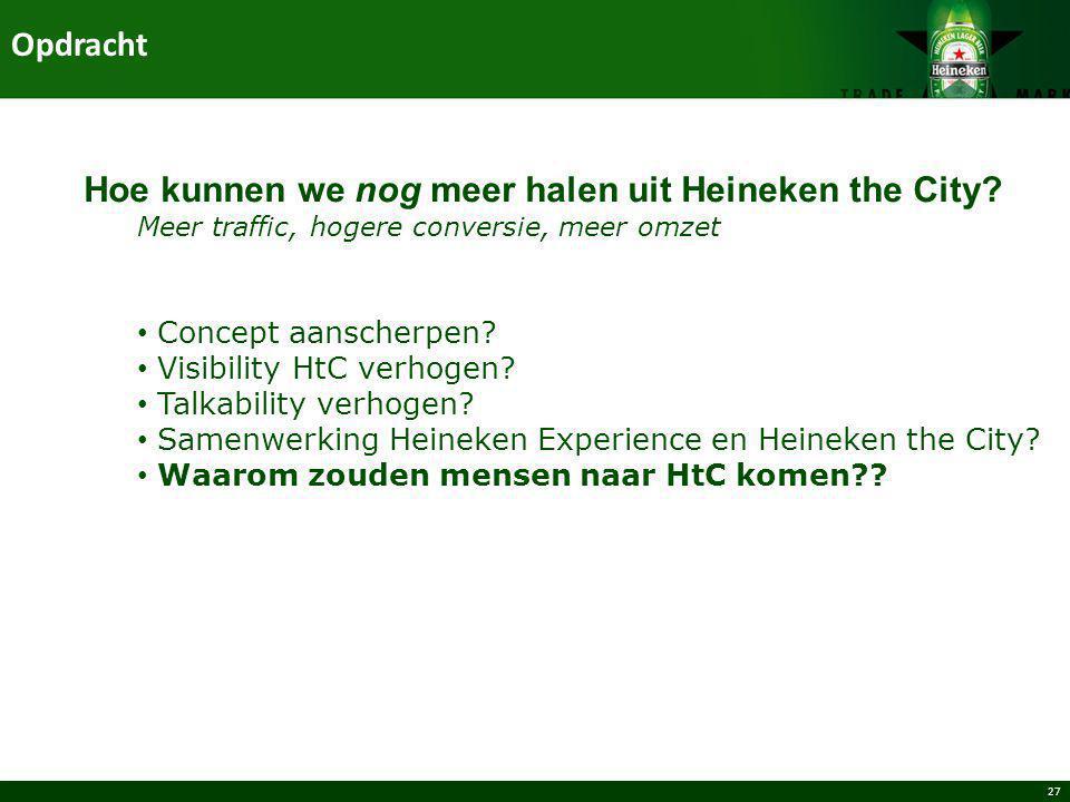Hoe kunnen we nog meer halen uit Heineken the City