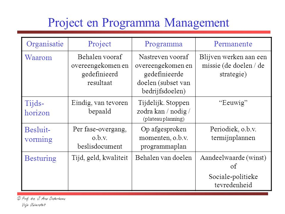 Project en Programma Management