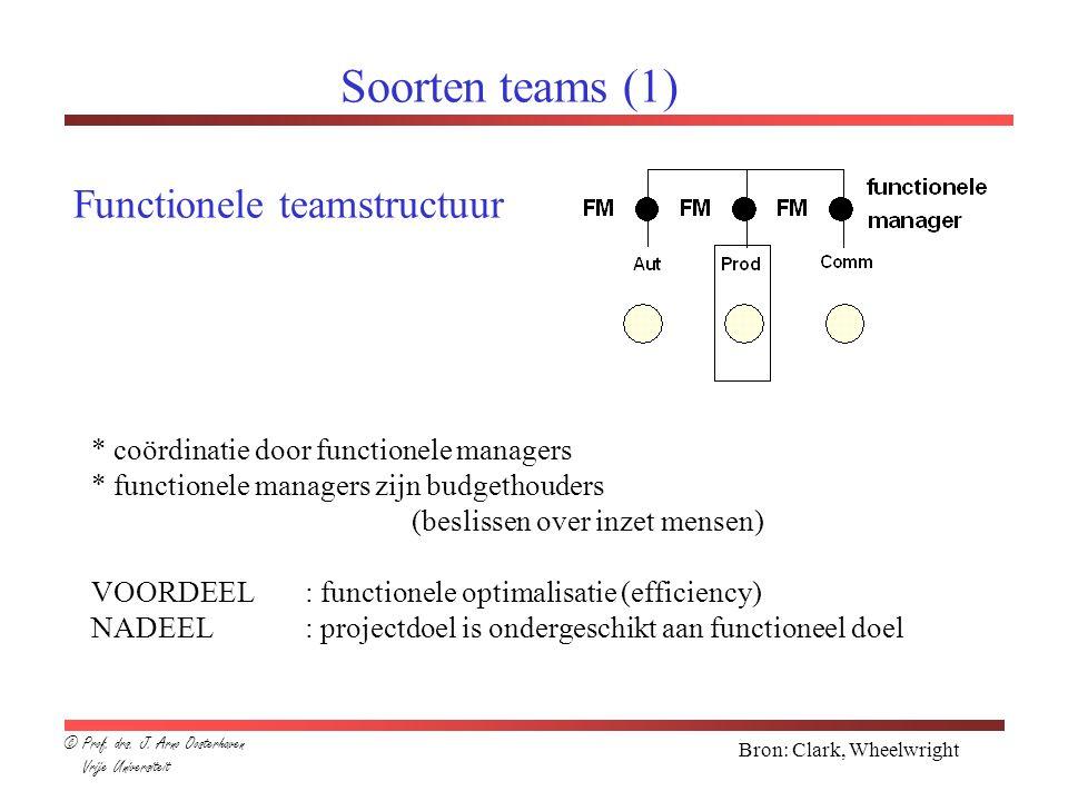 Soorten teams (1) Functionele teamstructuur