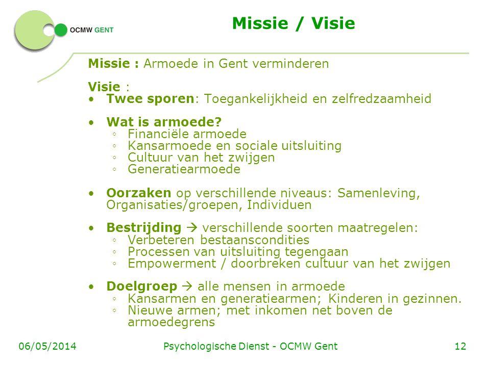 Psychologische Dienst - OCMW Gent