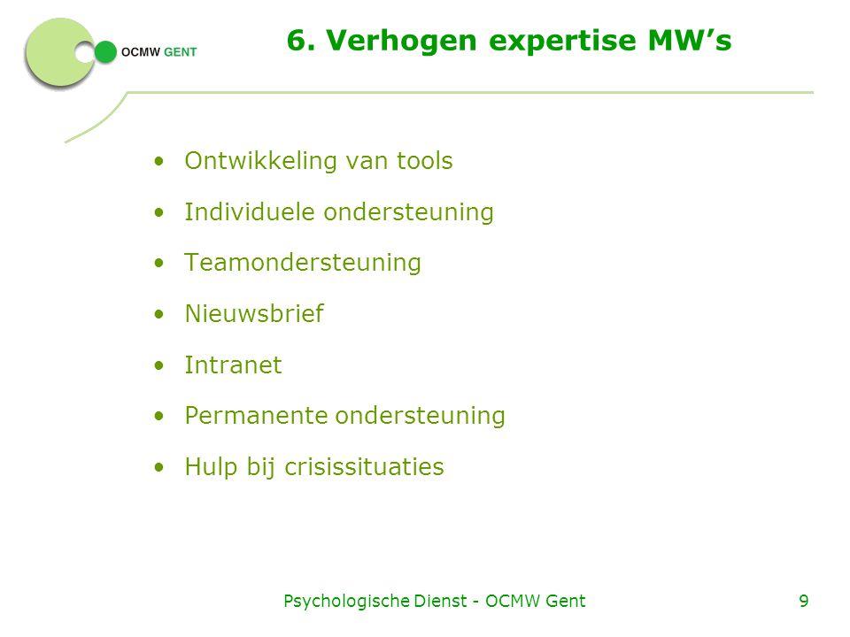 6. Verhogen expertise MW's