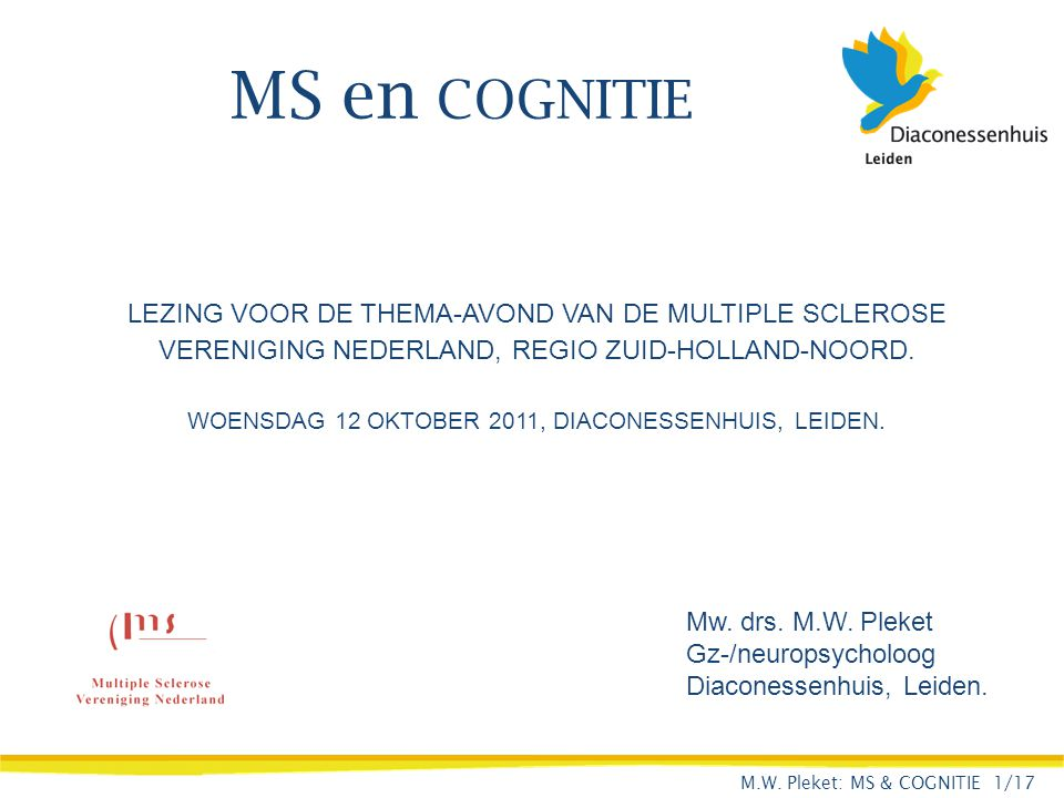 WOENSDAG 12 OKTOBER 2011, DIACONESSENHUIS, LEIDEN.