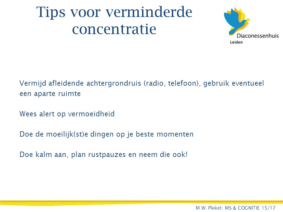 Tips voor verminderde concentratie
