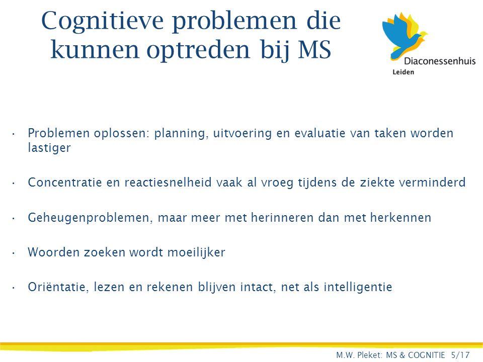 Cognitieve problemen die kunnen optreden bij MS