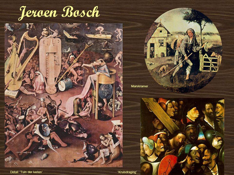 Jeroen Bosch Marskramer Detail 'Tuin der lusten' 'Kruisdraging'