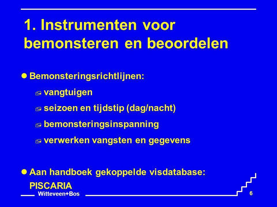1. Instrumenten voor bemonsteren en beoordelen