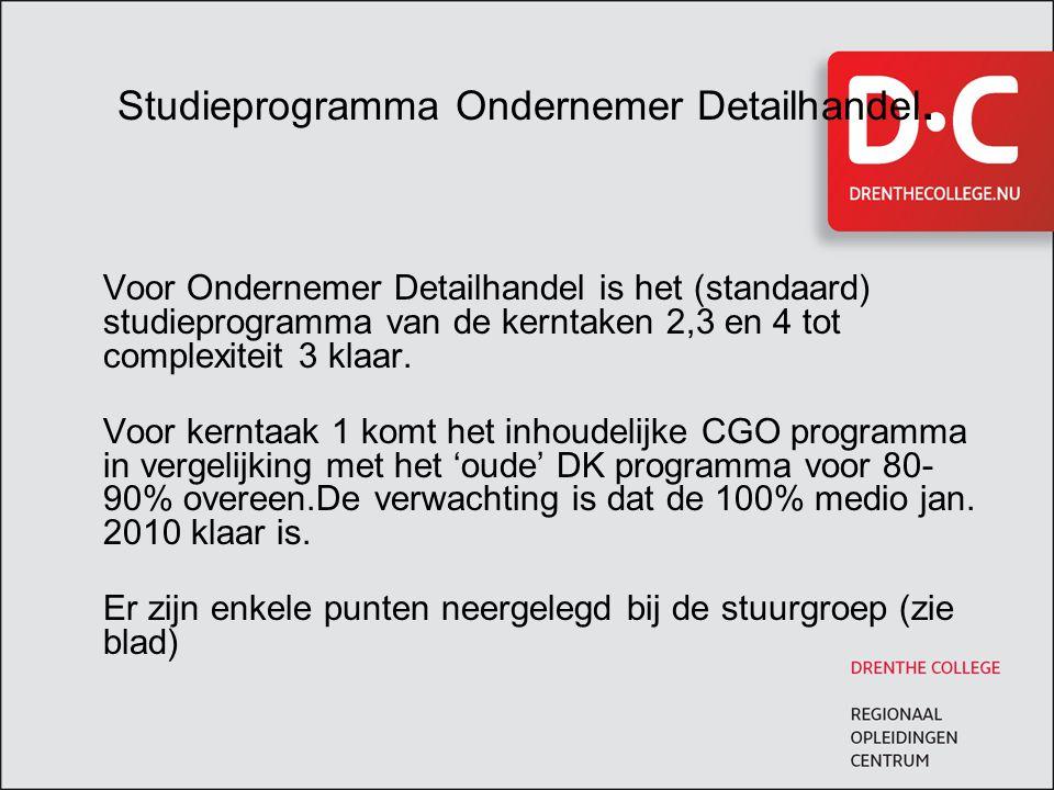 Studieprogramma Ondernemer Detailhandel.
