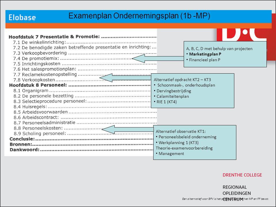 Examenplan Ondernemingsplan (1b -MP)