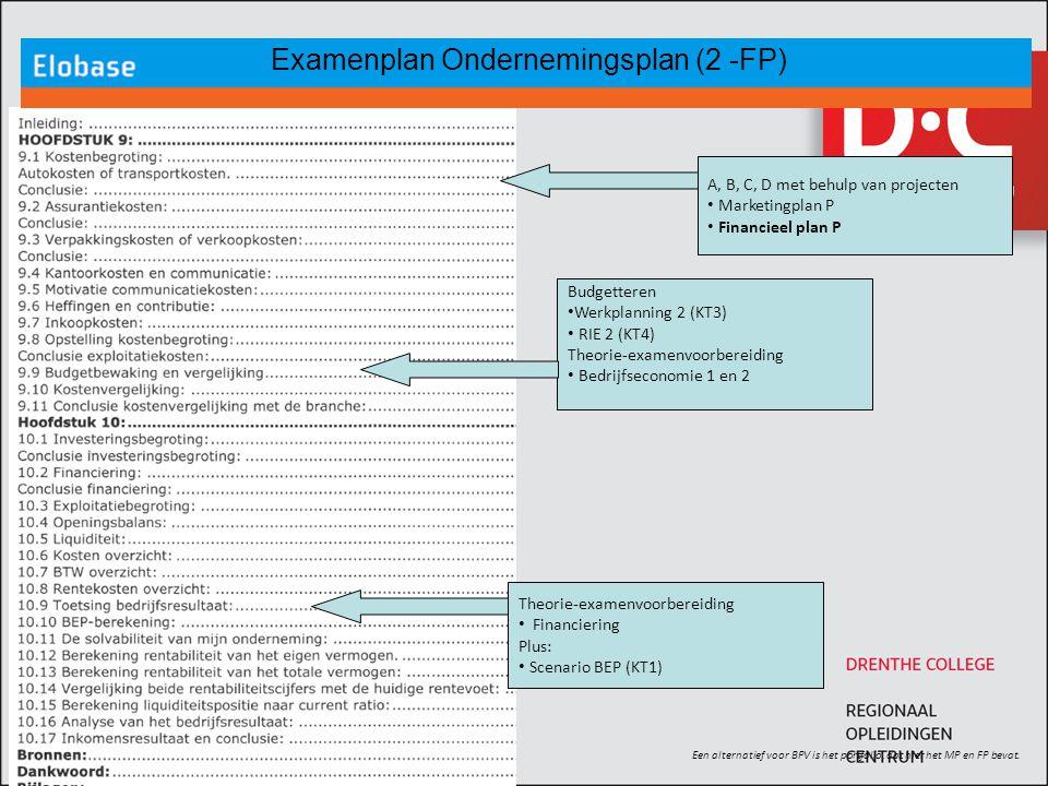 Examenplan Ondernemingsplan (2 -FP)
