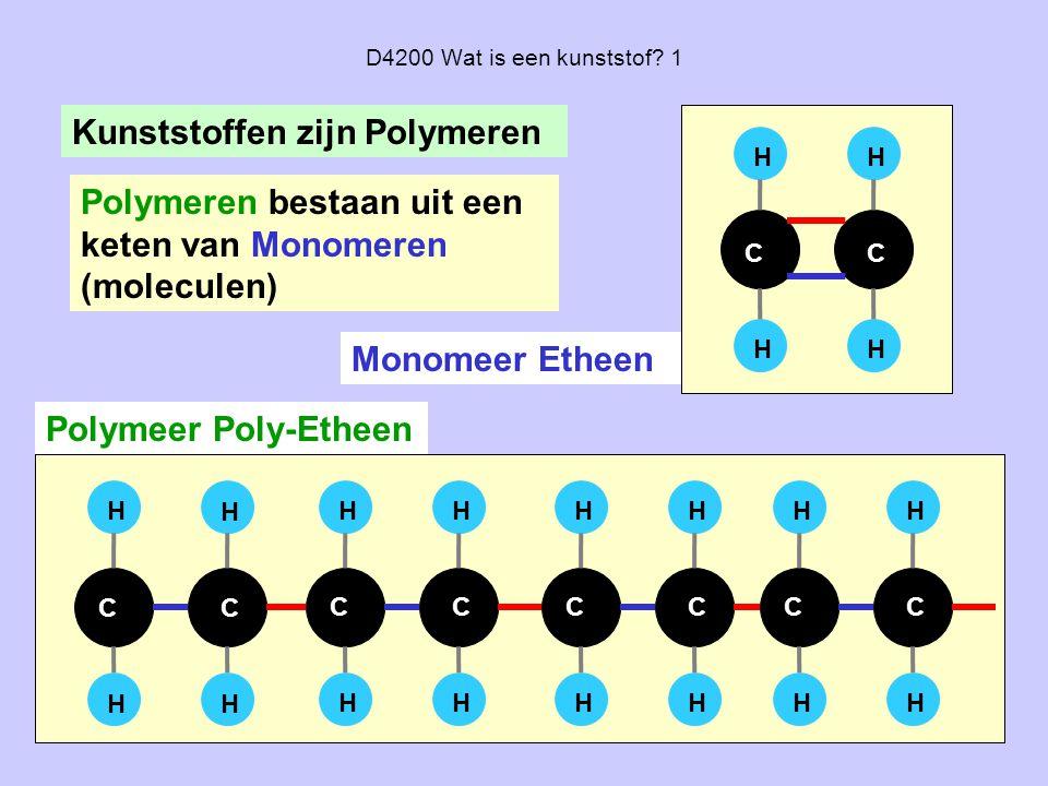 Kunststoffen zijn Polymeren