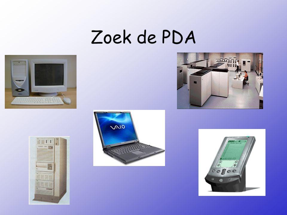 Zoek de PDA