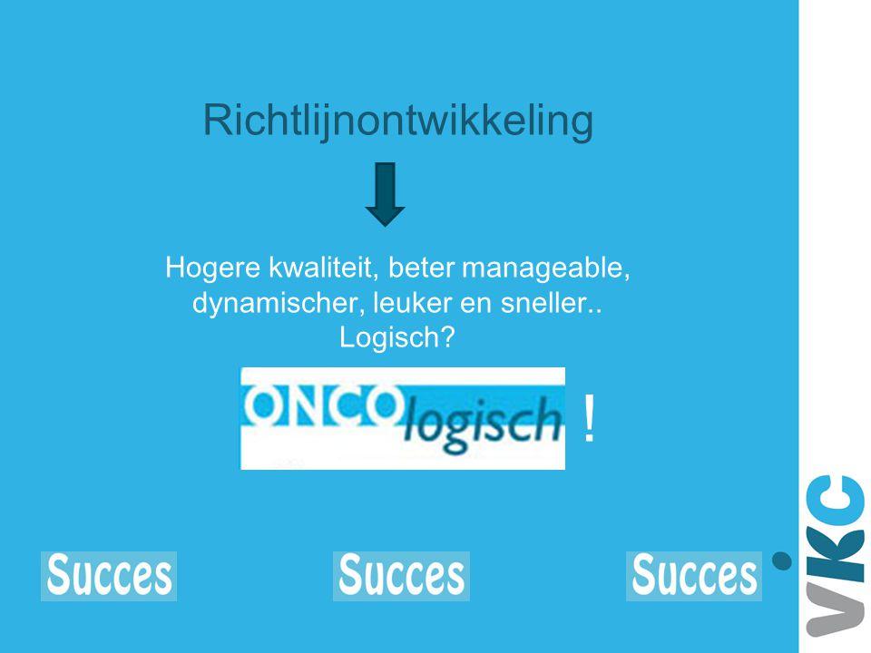 ! Richtlijnontwikkeling Hogere kwaliteit, beter manageable,