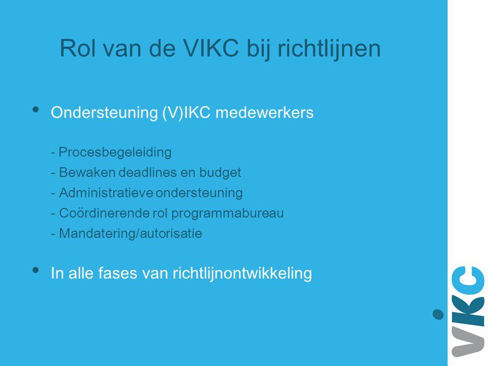 Rol van de VIKC bij richtlijnen