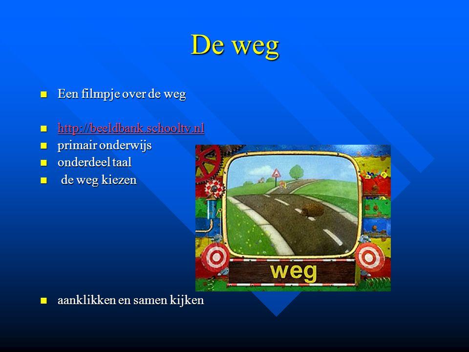 De weg Een filmpje over de weg http://beeldbank.schooltv.nl