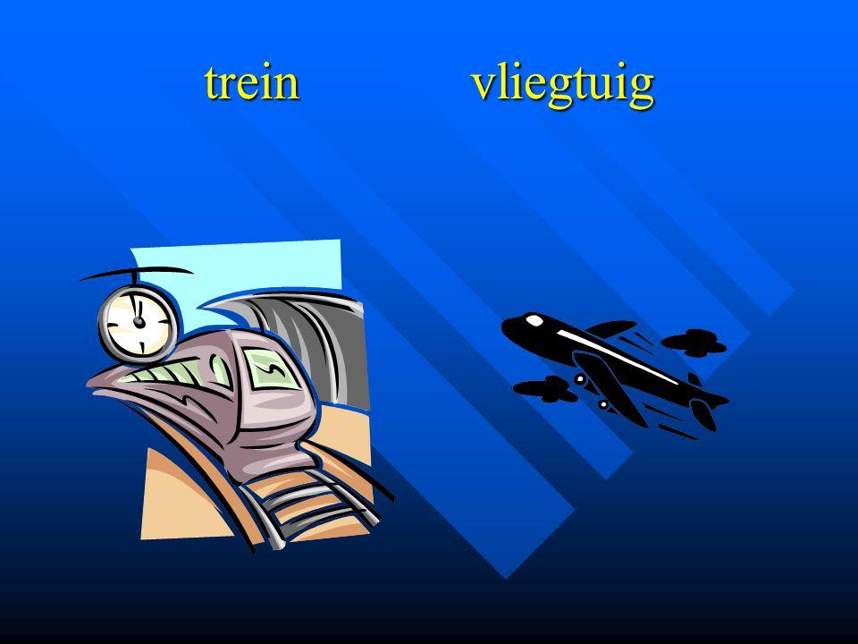 trein vliegtuig